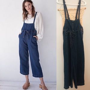 Free People Cotton Denim Overalls